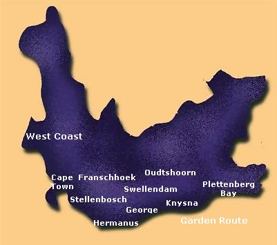 Map Western Cape