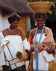 Johannesburg South Africa - Xhosa wedding dress Lesedi cultural village